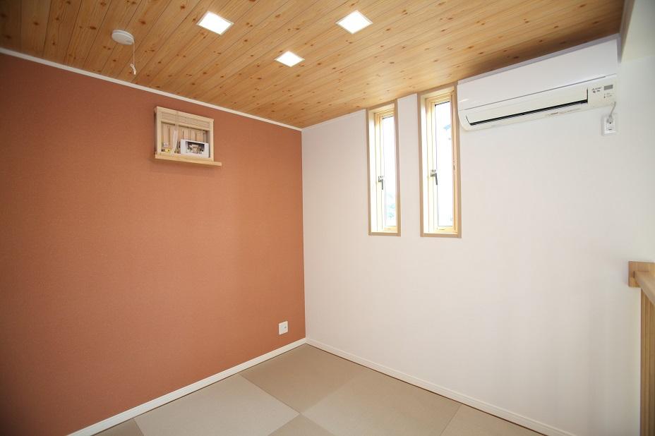 琉球畳を敷いた洋風和室
